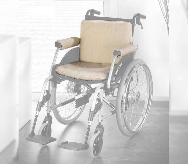 Schurwoll-Rollstuhl-Set 3-tlg- natur